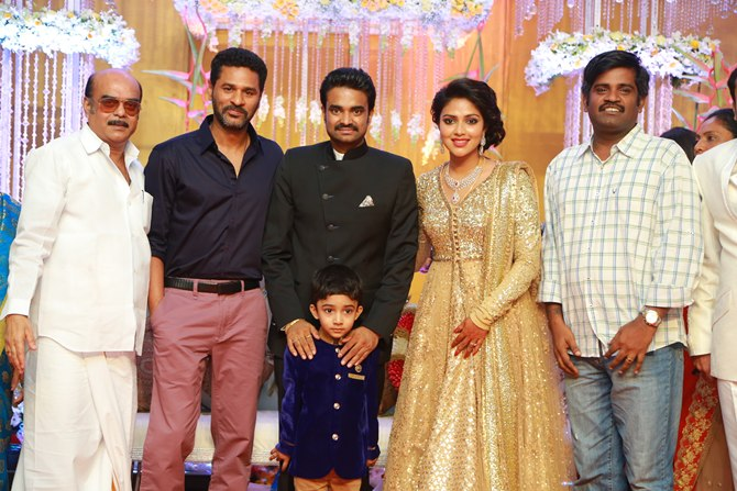 Prabhu Deva with AL Vijay and Amala Paul