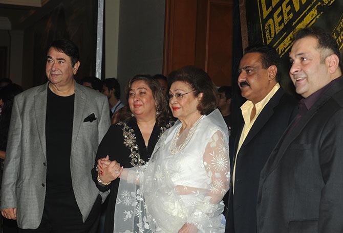 Randhir Kapoor, Reema Jain, Krishnaraj Kapoor, Mohan Jain and Rajiv Kapoor