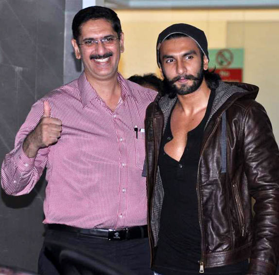 Jagjit Singh Bhavnani, left, with his son Ranveer Singh.