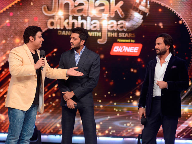 Sajid Khan, Riteish Deshmukh and Saif Ali Khan