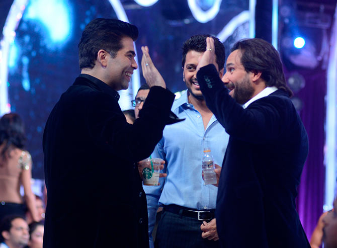 Karan Johar, Riteish Deshmukh and Saif Ali Khan