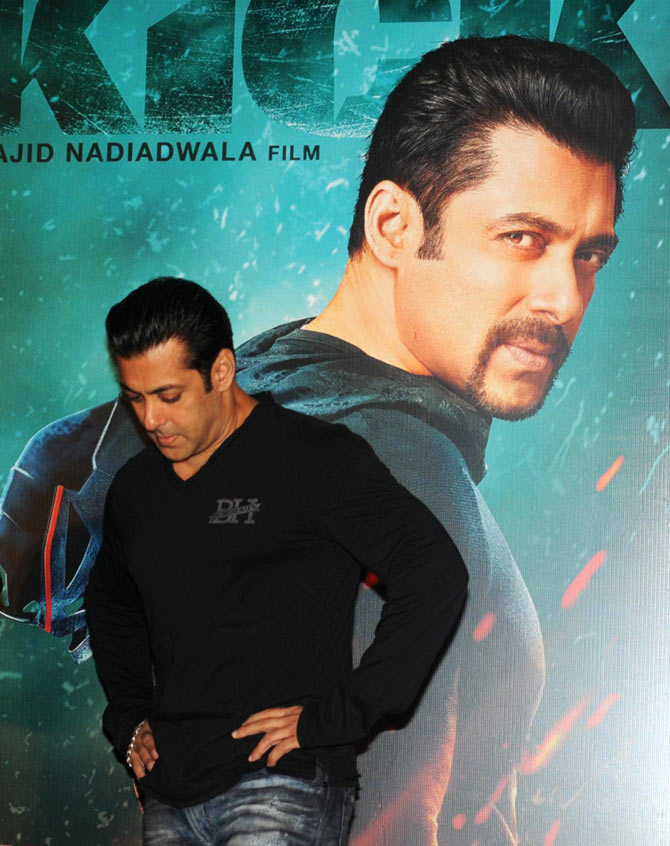 Salman Khan at the Kick launch