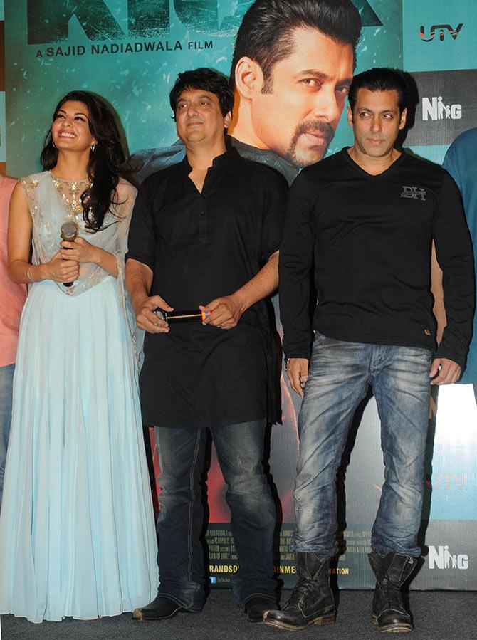 Jacqueline Fernandez, Sajid Nadiadwala and Salman Khan