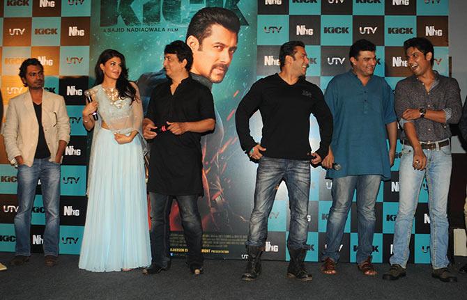 Nawaazuddin Siddique, Jacqueline Fernandez, Sajid Nadiadwala, Salman Khan, Siddharth Roy Kapur and Randeep Hooda