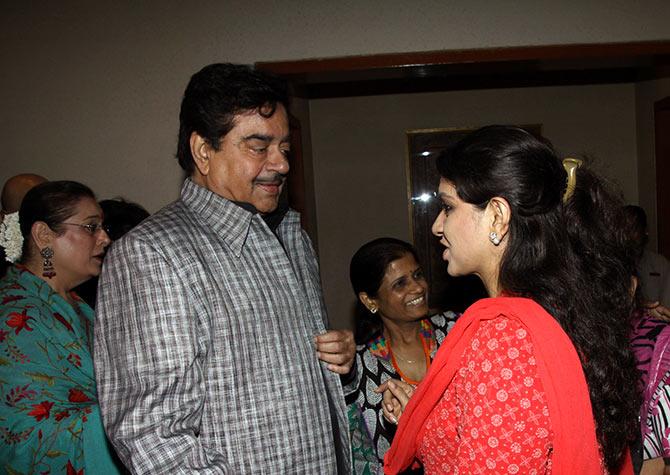Shatughan Sinha and Shaina NC