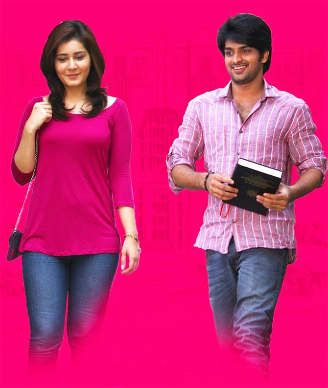 Raashi Khanna and Shourya in Oohalu Gusa Gusa Lade