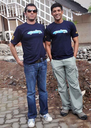 Ritesh Sidhwani and Farhan Akhtar