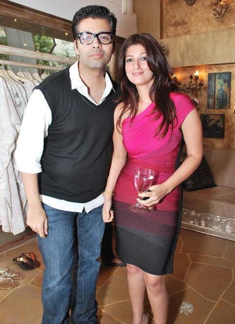 Karan Johar and Twinkle Khanna