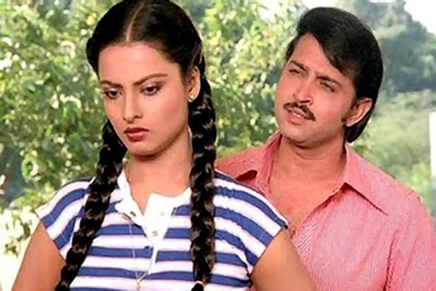 Rakesh Roshan and Rekha in Khoobsurat