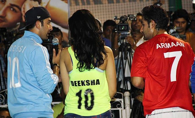 Ranbir Kapoor, Deeksha Seth and Armaan Jain