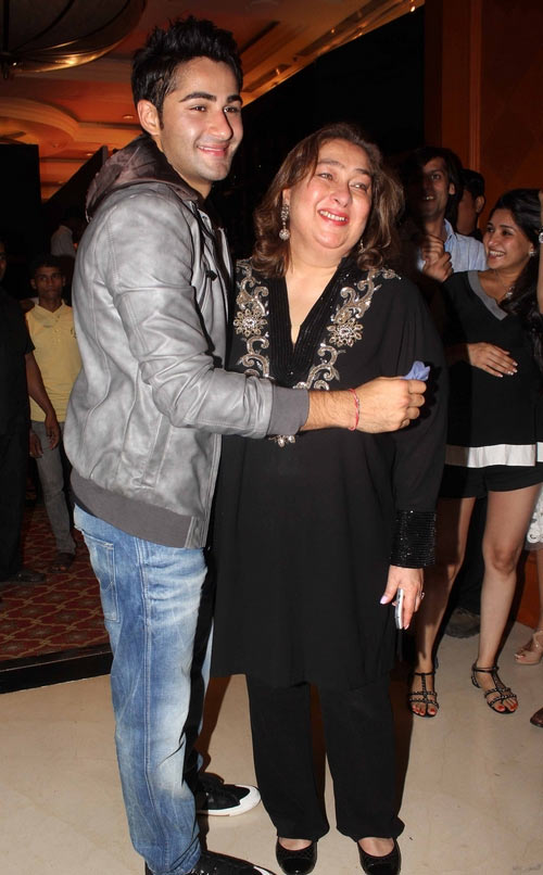 Armaan with his mother Rima Jain