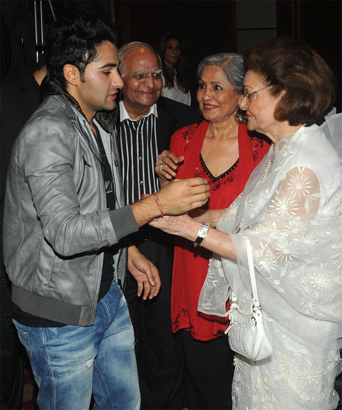 Armaan Jain and Krishna Raj Kapoor