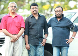 Lal Jose with his friends Suresh Joseph and Baiju N Nair
