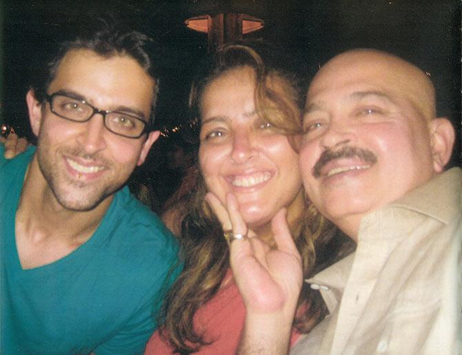 Hrithik, Suniana and Rakesh Roshan