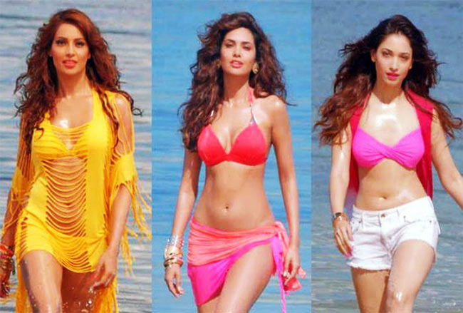 Bipasha Basu, Esha Gupta and Tamannah in Humshakals