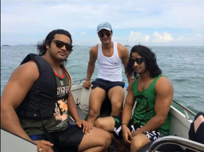 Shaheer Sheikh with friends