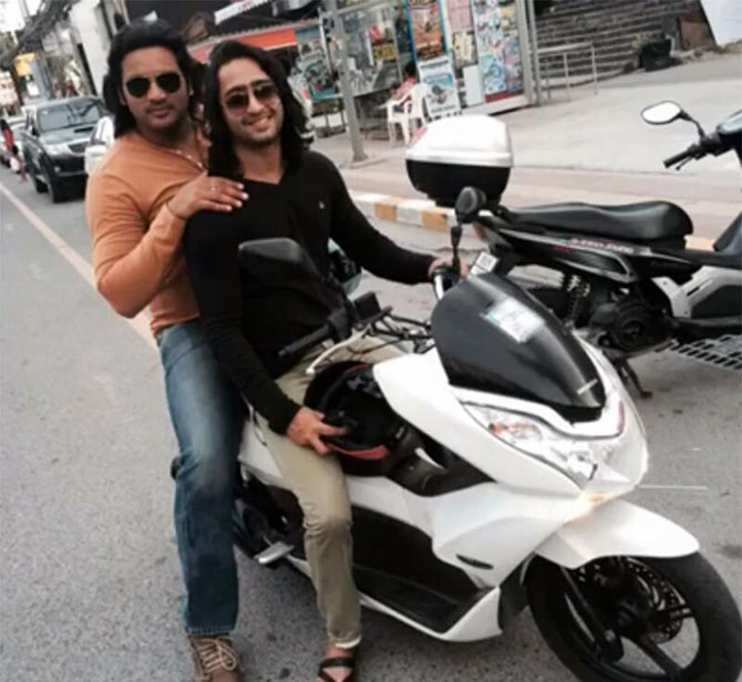 Shaheer Sheikh with a friend
