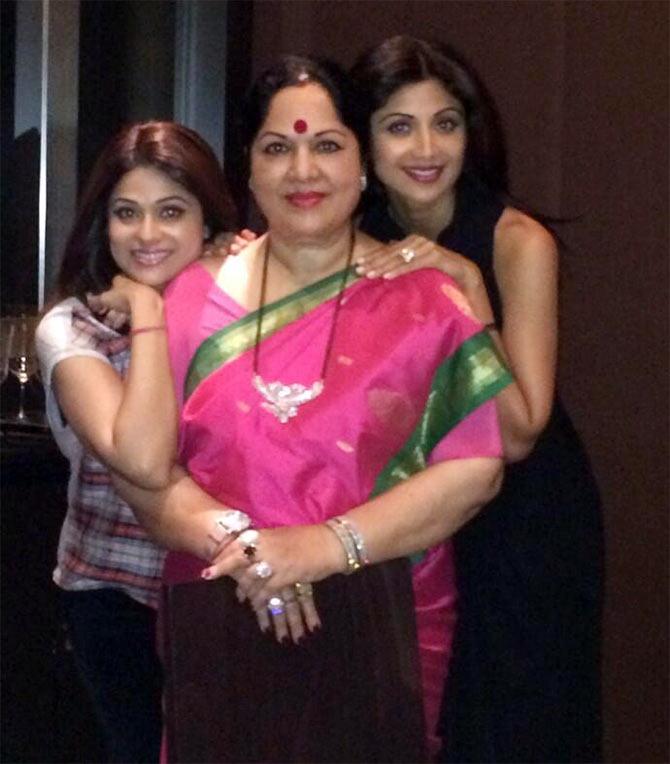 Shamita, Sunanda and Shilpa Shetty