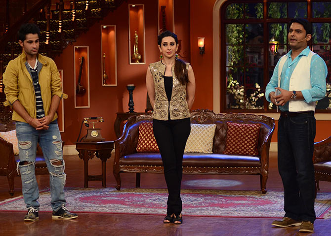 Karisma Kapoor, Armaan Jain and Kapil Sharma