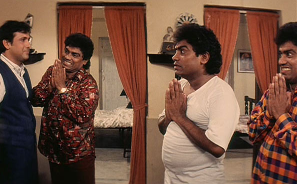 Govinda and Johnny Lever in Achanak