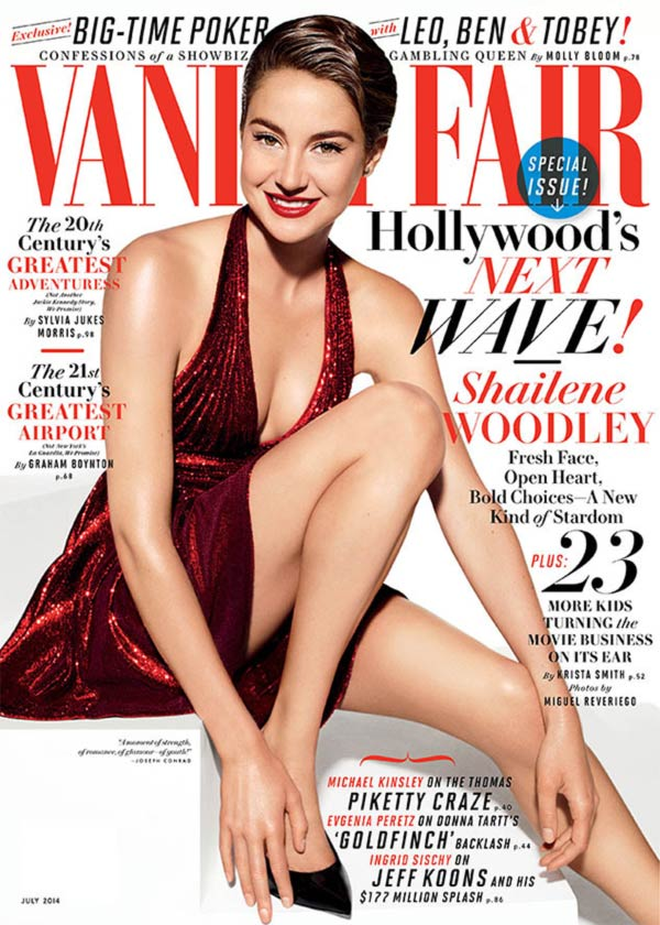 Shailene Woodley on the cover of Vanity Fair