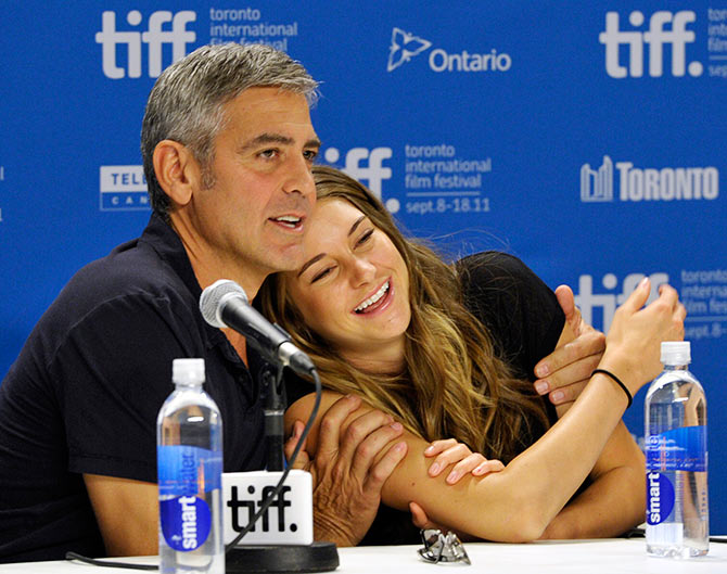 Shailene Woodley with George Clooney