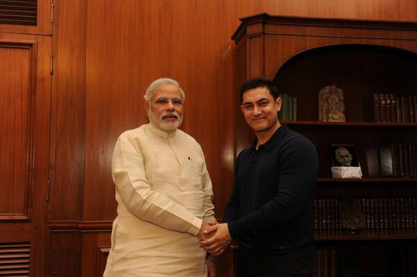 Narendra Modi and Aamir Khan