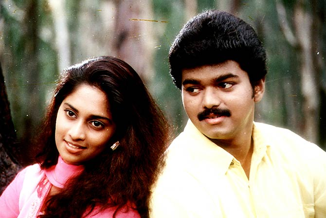 A still from Kadhalukku Mariyadhai