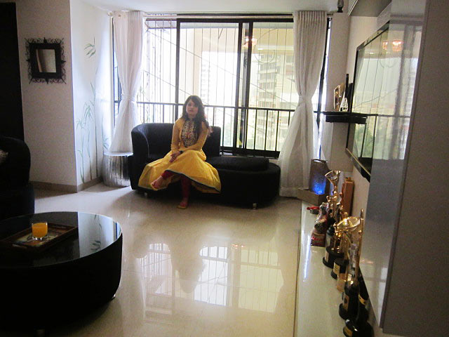 Giaa Manek in her Malad home