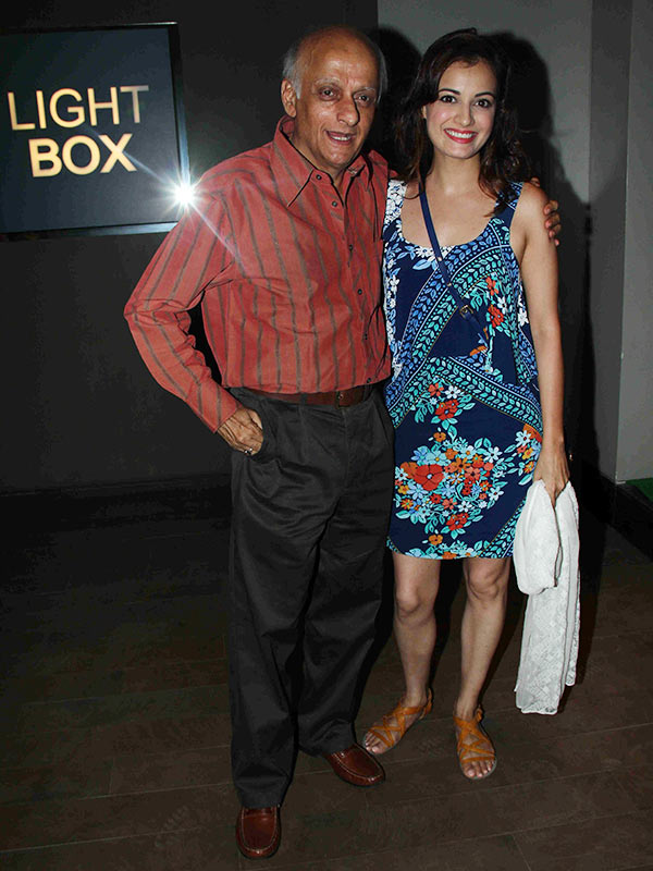 Mukesh Bhatt and Dia Mirza