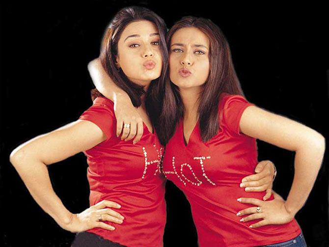 Preity Zinta and Rani Mukerji in Har Dil Jo Pyar Karega