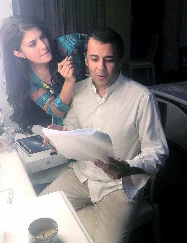 Jacqueline Fernandez and Chetan Bhagat