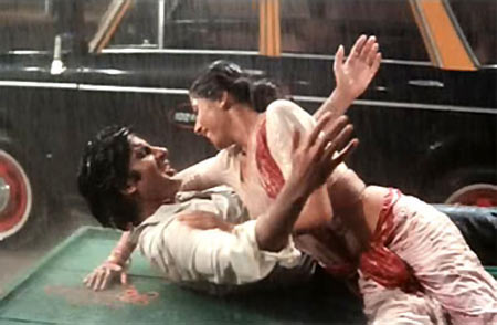 Amitabh Bachchan and Smita Patil in Namak Halal