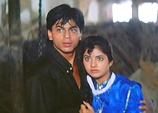 Shah Rukh Khan and Divya Bharti in Deewana
