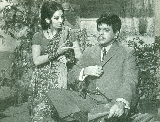 Dilip Kumar and Saira Banu in Sagina