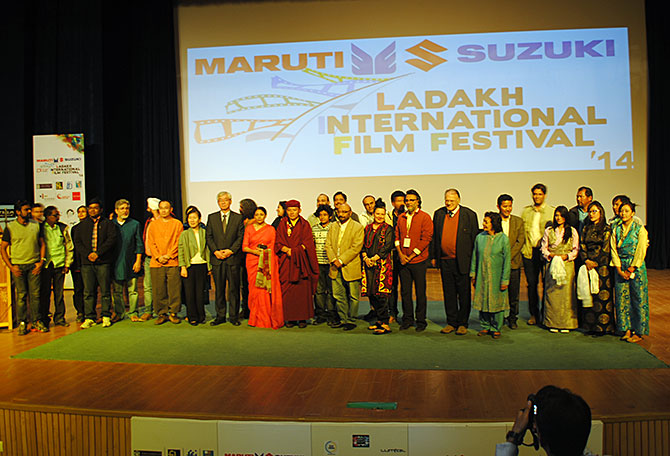 Guests at Ladakh Film Festival