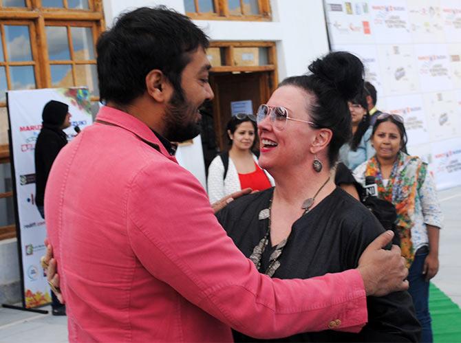Maxine Williamson with Anurag Kashyap