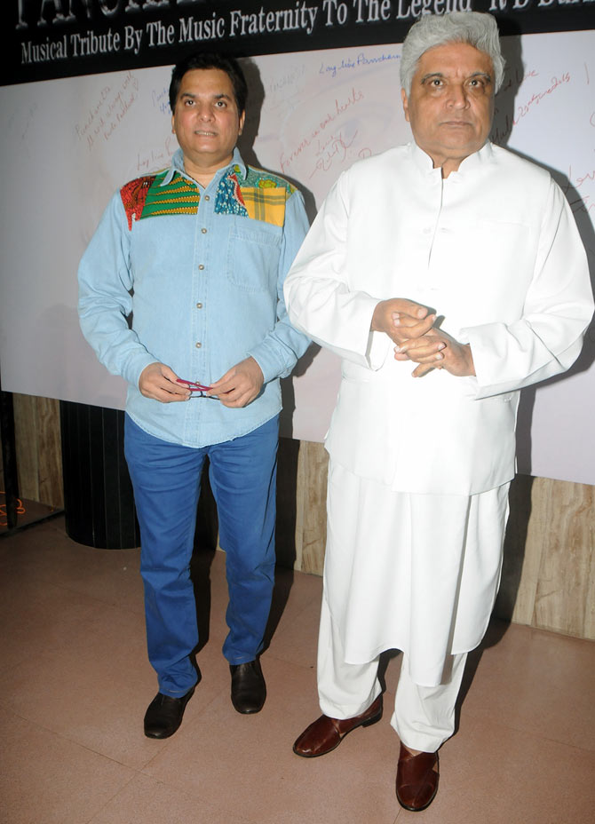 Javed Akhtar and Lalit Pandit