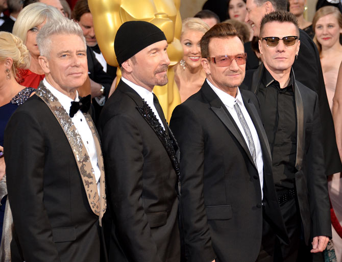 Adam Clayton, The Edge, Bono, and Larry Mullen Jr