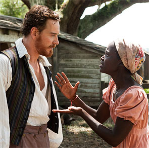 Micheal Fassbender and Lupita Nyong'o in 12 Years A Slve