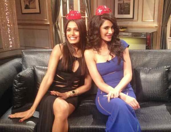 Freida Pinto and Nargis Fakhri on Koffee With Karan.