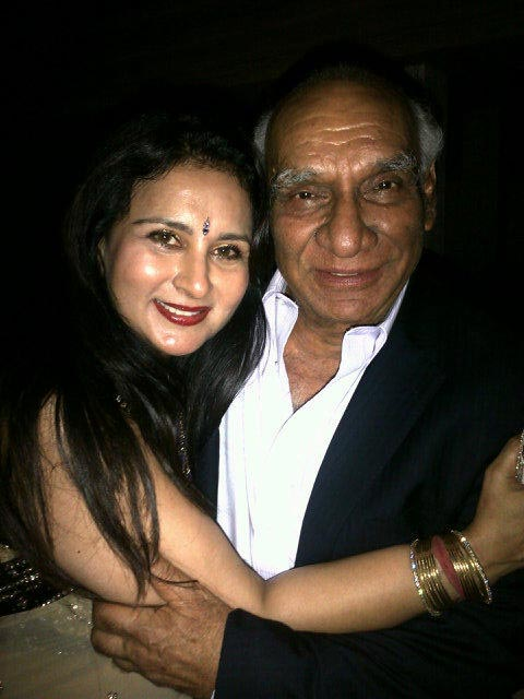 Poonam Dhillon and Yash Chopra