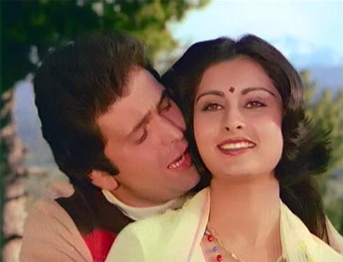 Rishi Kapoor and Poonam Dhillon in Yeh Vaada Raha