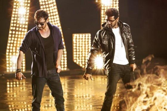 Ajay Devgn and Pradbhudeva in Action Jackson