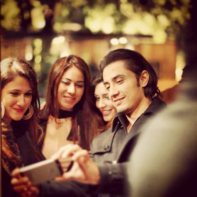 Ali Zafar with his fans