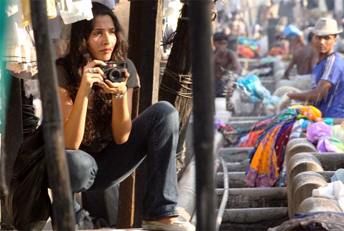 Monica Dogra in Dhobi Ghat. Inset: Kiran Rao