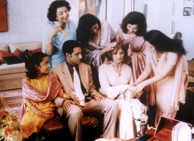 A still from Monsoon Wedding. Inset: Mira Nair