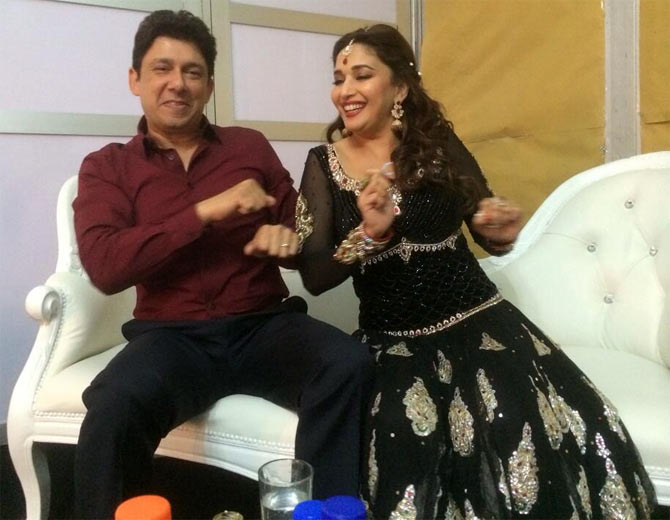 Madhuri Dixit with husband Dr Sriram Nene.