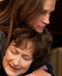 Julia Roberts and Meryl Streep in August Osage County