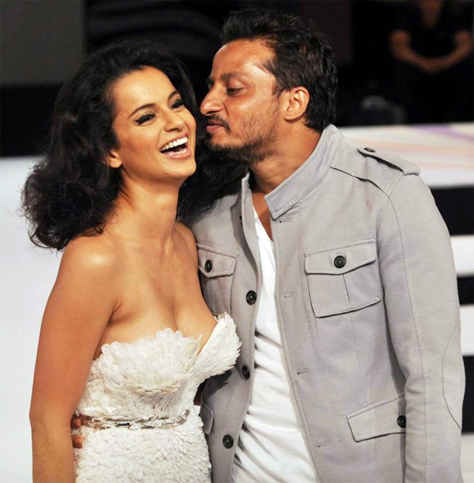 Kangna Ranaut with fashion designer Gavin Miguel